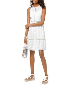 MICHAEL Michael Kors - Grommeted Floral-Lace Dress