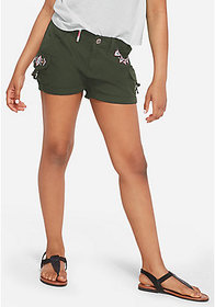 Justice Embroidered Cargo Shorts