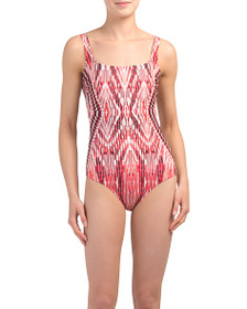 PROFILE BY GOTTEX Patterned Low Back One-piece Swi