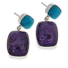 Jay King Sterling Silver Charoite and Turquoise Dr