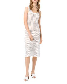 MICHAEL Michael Kors - Crocheted Sheer-Effect Midi