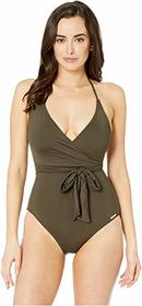 Vince Camuto Surf Shades V-Neck Wrap Tie One-Piece