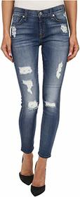 7 For All Mankind The Ankle Skinny w/ Destroy in D