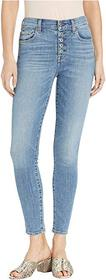 7 For All Mankind High Waist Ankle Skinny with But