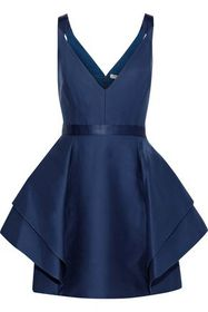 HALSTON HERITAGE Ruffled cotton and silk-blend min