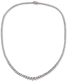 Diamond Necklace (3 ct. t.w.) in 14k White Gold or