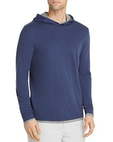 Theory - Daulton Double-Layer Hooded Long-Sleeve T