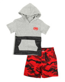 Ecko 2pc hooded tee & shorts set (2t-4t)