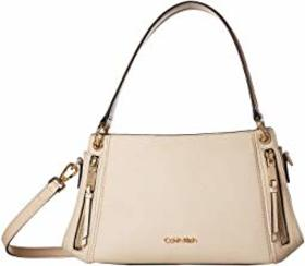 Calvin Klein Melanie Pebble Leather Satchel
