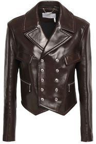 CHLOÉ Double-breasted leather jacket