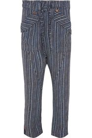 CHLOÉ Tie-front striped crepe tapered pants
