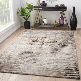 Brice Hand-Knotted Gray Area Rug