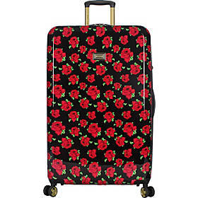 "BETSEY JOHNSON Covered Roses 30"" Hardside Checked"