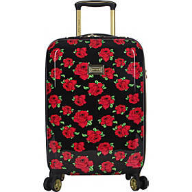 "BETSEY JOHNSON Covered Roses 20"" Hardside Carry-On"