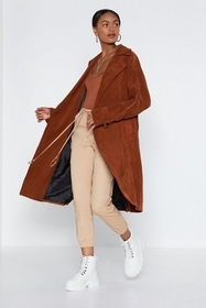 Nasty Gal Womens Rust Cover Story Trench Coat