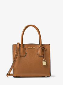 Michael Kors Mercer Medium Pebbled Leather Crossbo