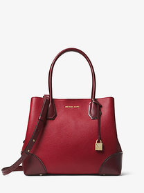 Michael Kors Mercer Gallery Medium Color-Block Lea