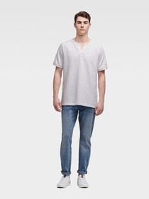 Donna Karan NOTCH NECK RAGLAN TEE