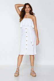 Nasty Gal Womens White Sunshine On My Shoulders St