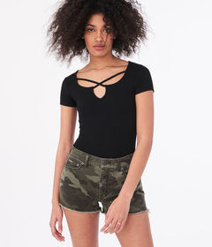 Aeropostale Seriously Soft Strappy Bodycon Top