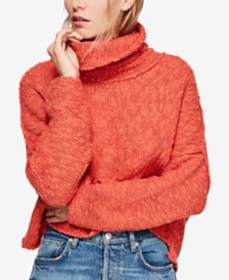 Free People Big Easy Cowlneck Sweater & Mom Jeans