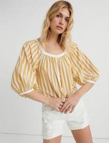 Lucky Brand Stripe Banded Top