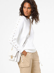Michael Kors Cotton Lace-Up Sweatshirt