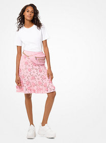 Michael Kors Floral Appliqué Lace Skirt