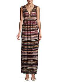 M Missoni Printed Sleeveless Maxi Dress MULTI