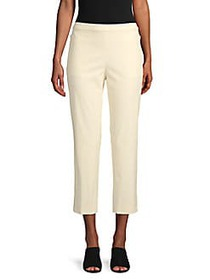 Theory Classic Cotton-Blend Cropped Pants IVORY