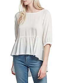 French Connection Slub Woven Top SUMMER WASH