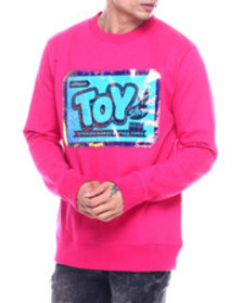 offbeat toy shop iridescent logo crewneck sweatshi