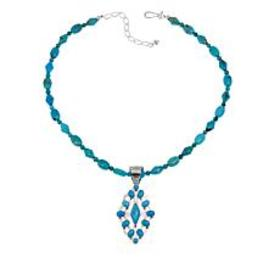 Jay King Angel Peak Turquoise Pendant with Necklac
