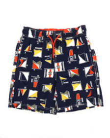 Nautica printed swim trunks w/ drawcords (8-20)