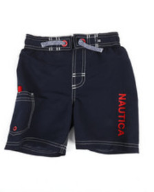 Nautica swim trunks w/ marled drawstring (4-7)