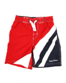 Nautica color blocked swim trunks (4-7)