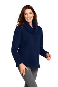 Lands End Women's Cozy Sherpa Fleece Pullover