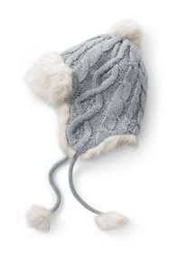 Lands End Women's Chunky Cable Peruvian Hat