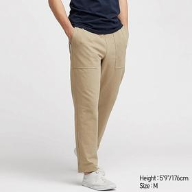 MEN WASHED JERSEY ANKLE-LENGTH PANTS