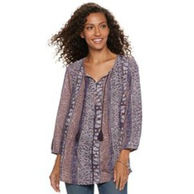 Women's SONOMA Goods for Life™ Printed Pintuck Pea