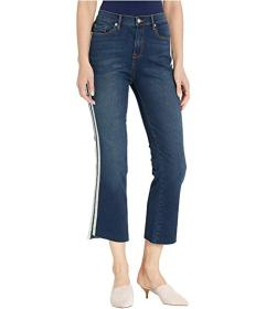 Juicy Couture Denim Crop Flare Jeans with Side Str