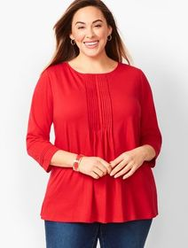 Talbots Plus Size Pintuck Tunic