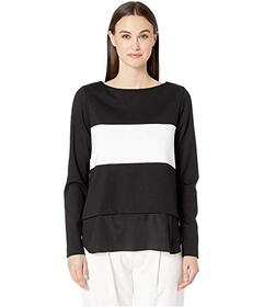 Nicole Miller Ponte Boat Neck Sweater