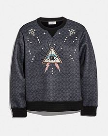 Coach signature pyramid eye sweatshirt