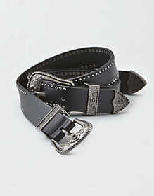 American Eagle AEO Double Buckle Western Belt