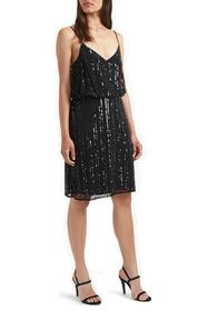 French Connection Aster Shine Slip Dress