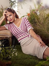 Teri Stripe Dolman Sweater - Eva Mendes Collection