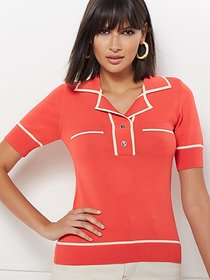 Joely Polo Sweater - Eva Mendes Collection - New Y
