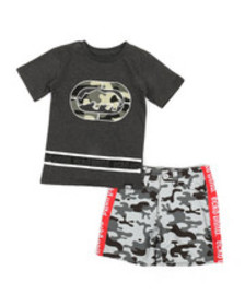 Ecko 2pc tee & shorts set (2t-4t)