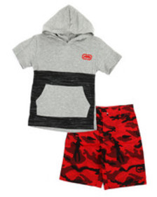 Ecko 2pc hooded tee & shorts set (4-7)
